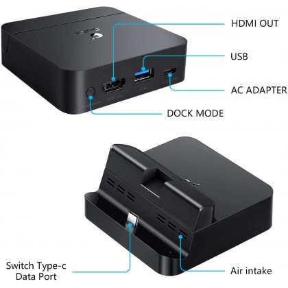 GULIKIT DOCK FOR SWITCH (BLACK)