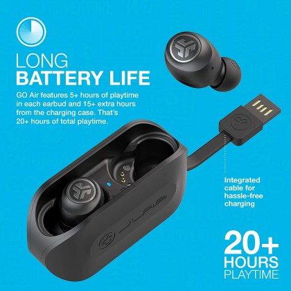 JLab Go Air True Wireless Bluetooth Earbuds