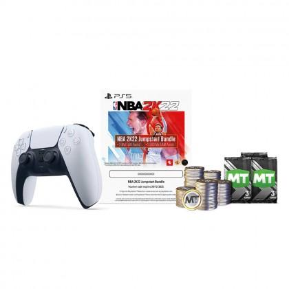 PlayStation 5 DUALSENSE Wireless Controller + NBA 2K22 Jumpstart Bundle